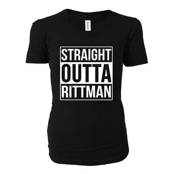 Straight Outta Rittman City. Cool Gift - Ladies T-shirt