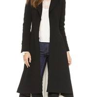 Stunning Forked Tail Pleated Overcoats