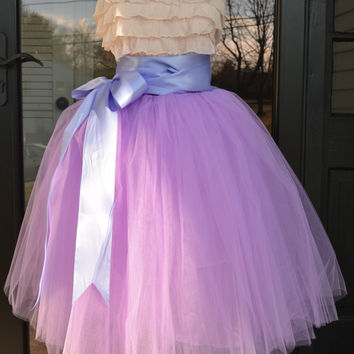 Lilac Lavender Tulle skirt