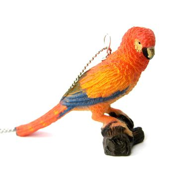 Colorful Parrot Bird Shaped Animal Plastic Pendant Necklace | Animal Jewelry