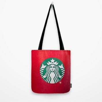 Starbucks Holiday Cup Tote Bag by Neon Monsters