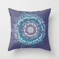 Boheme Mandala Throw Pillow by rskinner1122