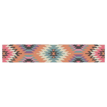 "Amanda Lane ""Southwestern Dreams"" Orange Pink Table Runner"
