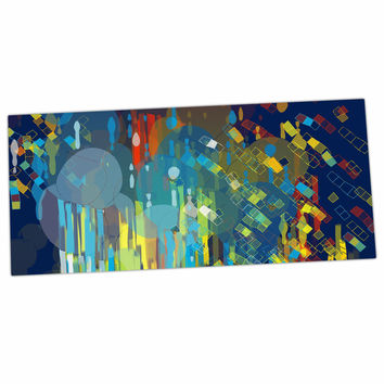 "Frederic Levy-Hadida ""Color Fall"" Blue Multicolor Desk Mat"