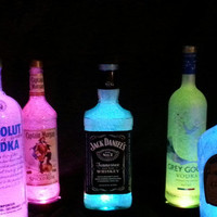 Man Cave Liquor Lamps-Jack Daniels, Grey Goose, Captain Morgan's, Absolut Vodka and more!