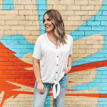 Nicole Front Knot Top