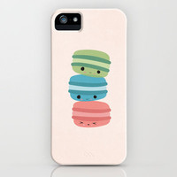 Three's Company Macaroon Love iPhone Case by Kendra Gokey | Society6