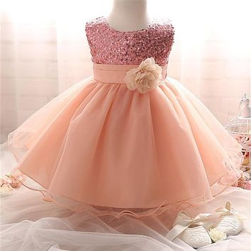 Girl Dress Children Clothing Wedding Party Girls Dresses first birthday Clothes Newborn Princess Infant Dress Girl