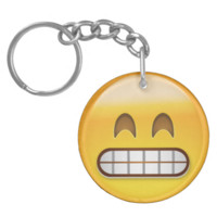 Grinning Face With Smiling Eyes Emoji Keychain