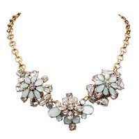 Custom Jewelry Rhinestone Floral Necklace Antique Pendant Chain Necklaces