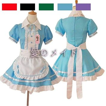 New  Sexy Women Costumes Dress/Brand Bowknot French Maid Costumes/Princess Women Clothing Cosplay Dress Macchar Cosplay Catalogue
