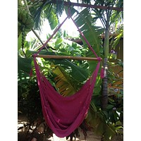 Mission Hammocks Hanging Hammock Chair Organic Cotton - Pink