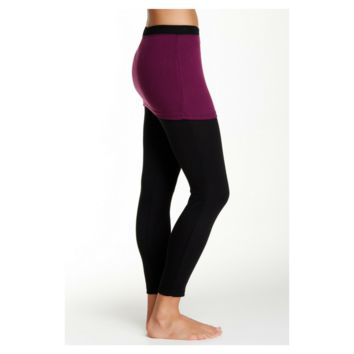 magid Yoga Gym Workout 2 Tone Skirt Overlay, Black/Plum