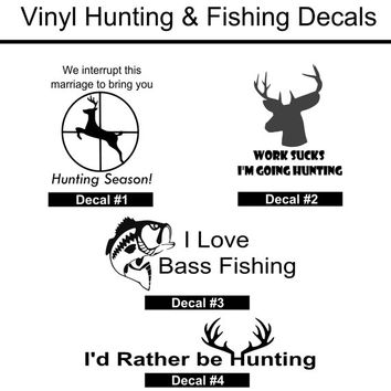 Hunting and Fishing Decals