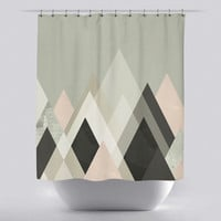 Unique Shower Curtain - Mountains 2 by Green Lili