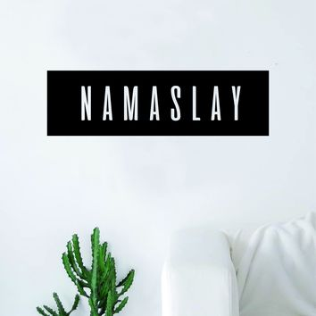 Namaslay Rectangle Wall Decal Sticker Vinyl Art Bedroom Living Room Decor Quote Namaste Yoga Meditate