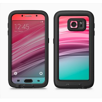 The Red to Green Electric Wave Full Body Samsung Galaxy S6 LifeProof Fre Case Skin Kit