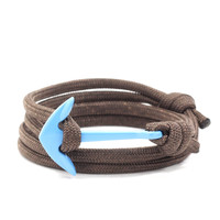 Light Blue Anchor on Dark Brown Rope