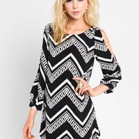 Coldshoulder Zig Zag Dress