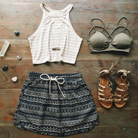 An Aztec Skater Skirt
