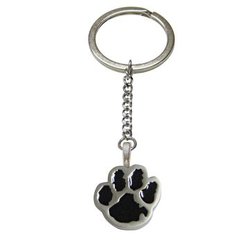 Black Animal Paw Pendant Keychain