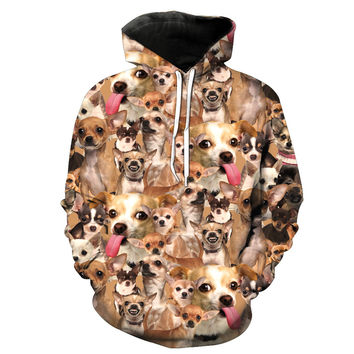 Chihuahua Collage Hoodie