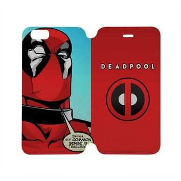 DEADPOOL Wallet Case for iPhone 4/4S 5/5S/SE 5C 6/6S Plus Samsung Galaxy S4 S5 S6 Edge Note 3 4 5