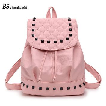 School Backpacks for kids for college Leather Shoulder Bag