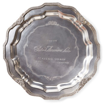 "14"" French Charger, Silver, Decorative Plates"
