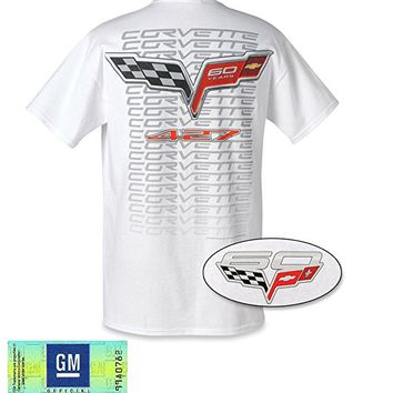 West Coast Corvette Men's Corvette 60th Anniversary 427 Tee Shirt