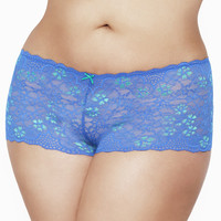 Cross-Dye Lace Cheeky Shorts