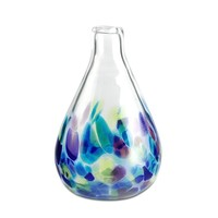 Raindrop Hydrangea Pixie Vase - Hand Blown Glass Vase by Glass Eye Studio Containing Volcanic Ash from the 1980 Eruption of Mount St. Helens
