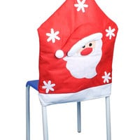 Red Santa Chair Cover
