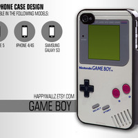 Iphone Case Nintendo GameBoy Iphone 4 case Hip Hipster Game Boy Iphone 5 case Iphone 4s case Samsung Galaxy S3 Case