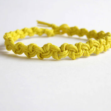 Instant Download - PATTERN Easy Yellow Macrame Bracelet Pattern - Macrame Bracelet Tutorial - Macrame Bracelet pdf