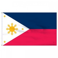 Philippines 3ft x 5ft Nylon Flag with Pole Hem Only - Banner