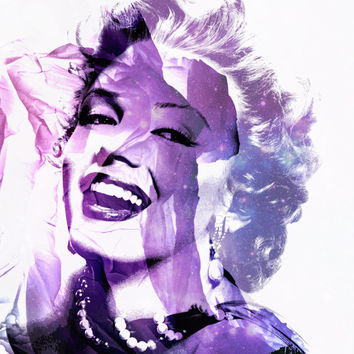 "THE QuEEN BEE (Marilyn Monroe) 8x11"" Digital Illustration Print by MOPS"