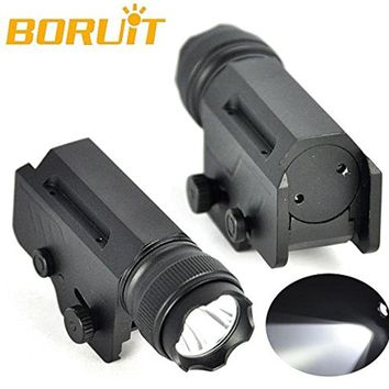 Boruit New 1800 Lumen XM-L L2 LED Tactical Flashlight 1 Mode Gun Light Hand Torch Portable Lantern+Mount For Outdoor Hunting