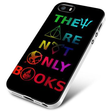 Divergent Hunger Game Harry Potter Book iPhone 5   5S   5SE Case Planetscase.com
