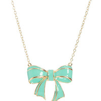 Epoxy Bow Pendant Necklace | Shop Necklaces  at Wet Seal