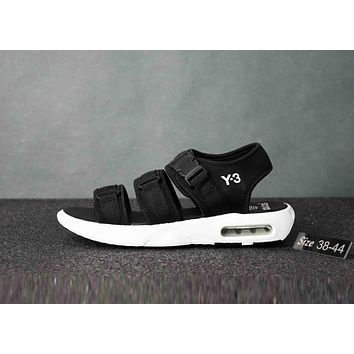 Adidas Y-3 Summer Stylish Trending Women Men Personality Air Cushion Sandal Shoes Back I-CSXY