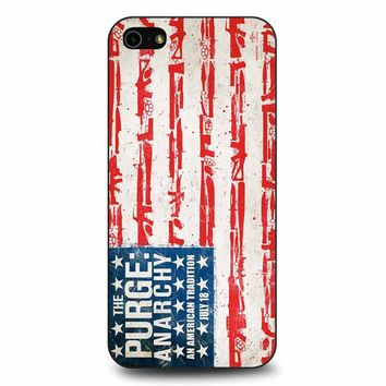 The Purge Anarchy Flag iPhone 5/5s/SE Case