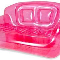 Inflatable Couch Color: Pretty Pink: Home & Kitchen