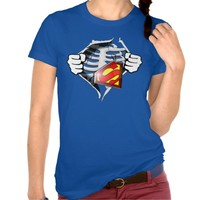 Skeleton Rib Cage With Superman Tag T-shirts