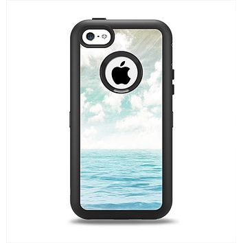 The Paradise Vintage Waves Apple iPhone 5c Otterbox Defender Case Skin Set