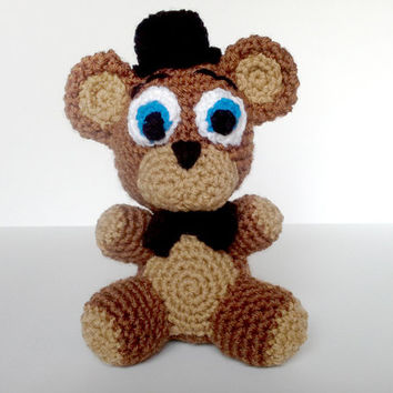 Five Nights at Freddy's Crochet Freddy Fazbear Plushie Toy Amigurumi Cute Video Game Gift