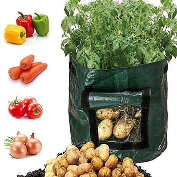 Vegetables Garden Planter Potato Grow Bag with Access Flap, Raised Garden Bed for Planting Vegetables,Taro,Radish,Carrots,Onions Durable Bags(2 Pack)