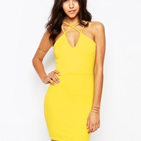 Boohoo Cross Front Strappy Bodycon Dress at asos.com