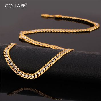 Collare Two Tone Jewelry Sets For Men Gold/Silver Color Wholesale Accessories Curb Link Chain Bracelet Necklace Sets S155
