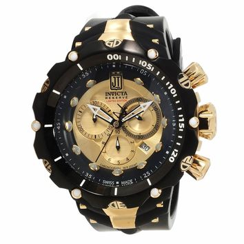 Invicta 14416 Men's Jason Taylor Venom Gold Dial Rubber Strap Chronograph Dive Watch